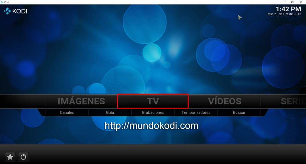 Activar opcion TV