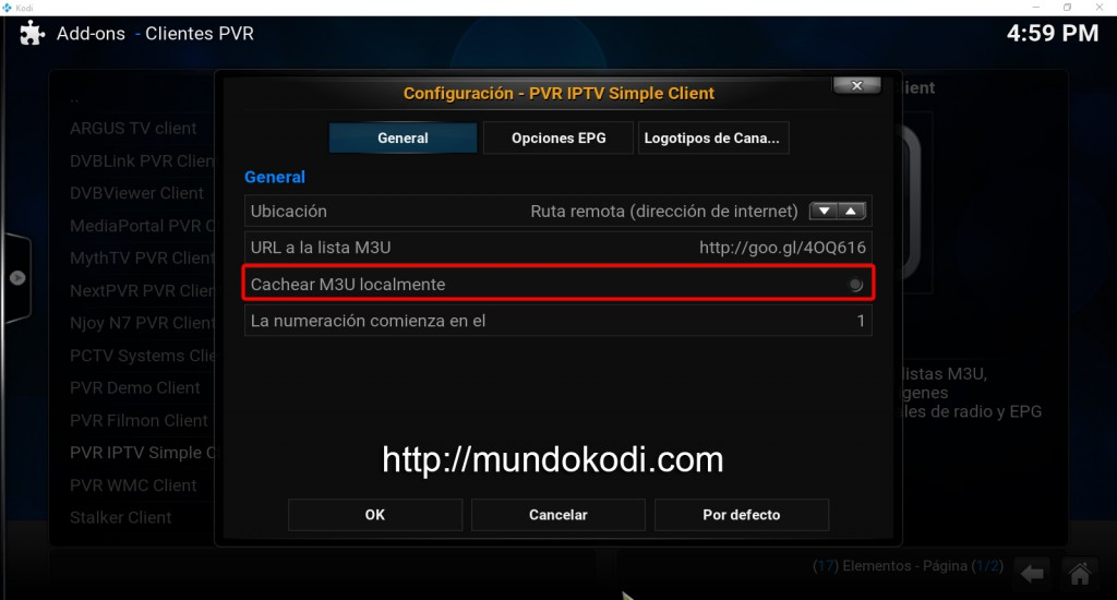 opcion cache mu3