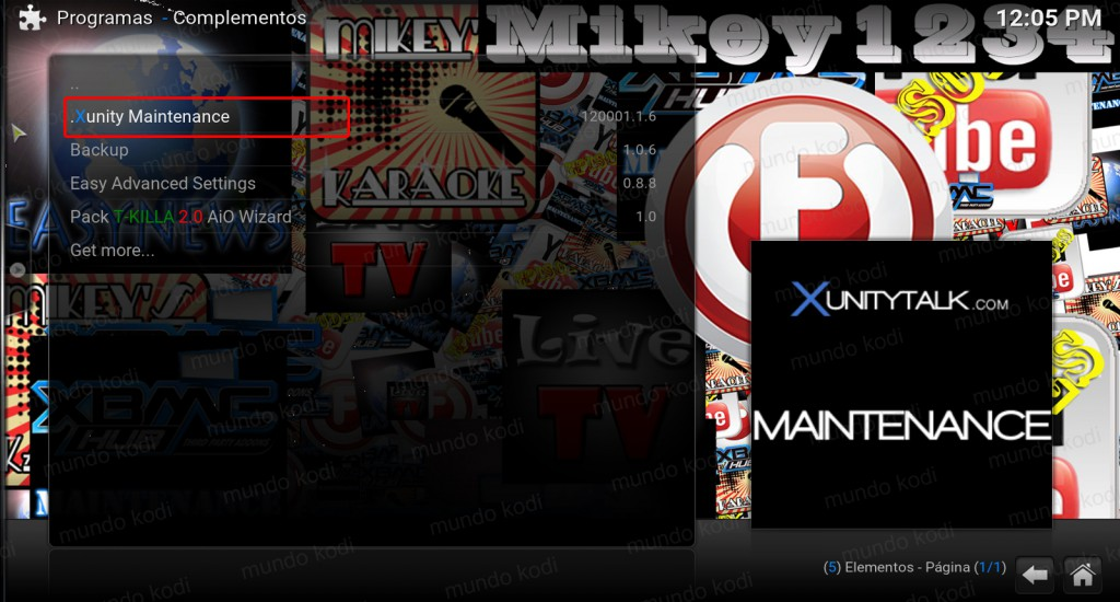 19 xunity maintenance. buffering en Kodi