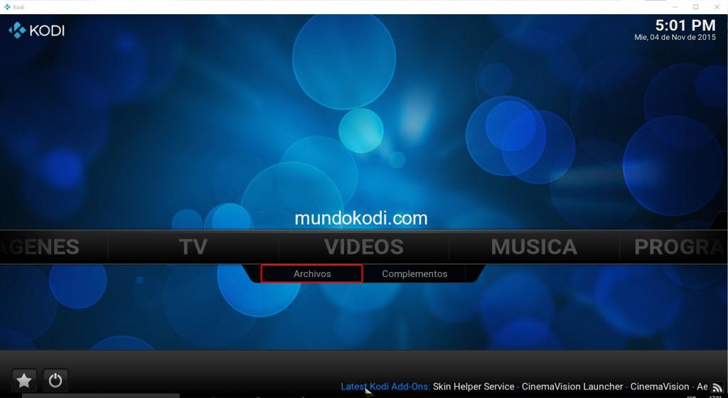 Archivo. Videos en Kodi