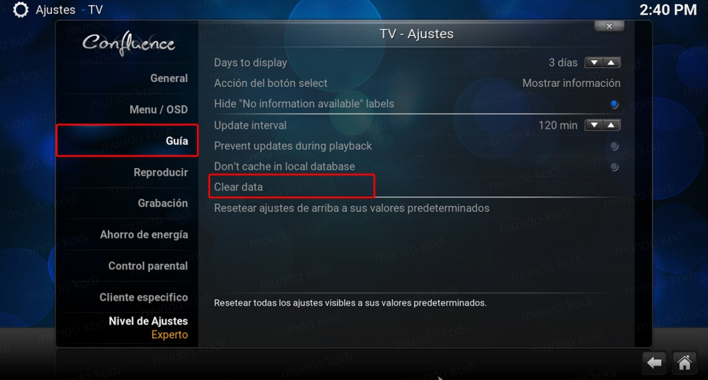 lista play kodi. Guia - clear data