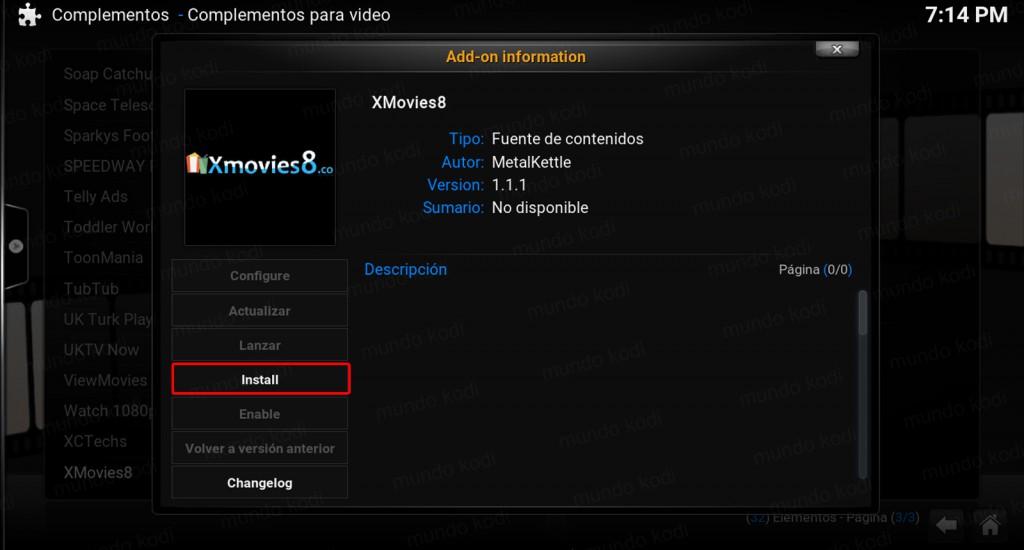 install xmovies8