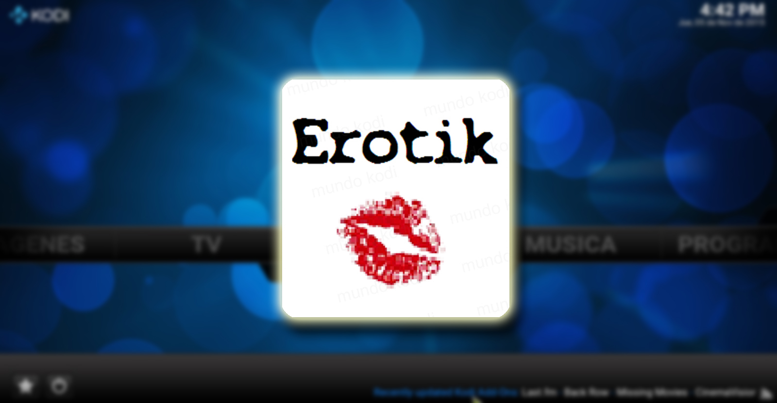 Como Instalar Addon Erotik XXX en Kodi [Adultos] - Mundo Kodi