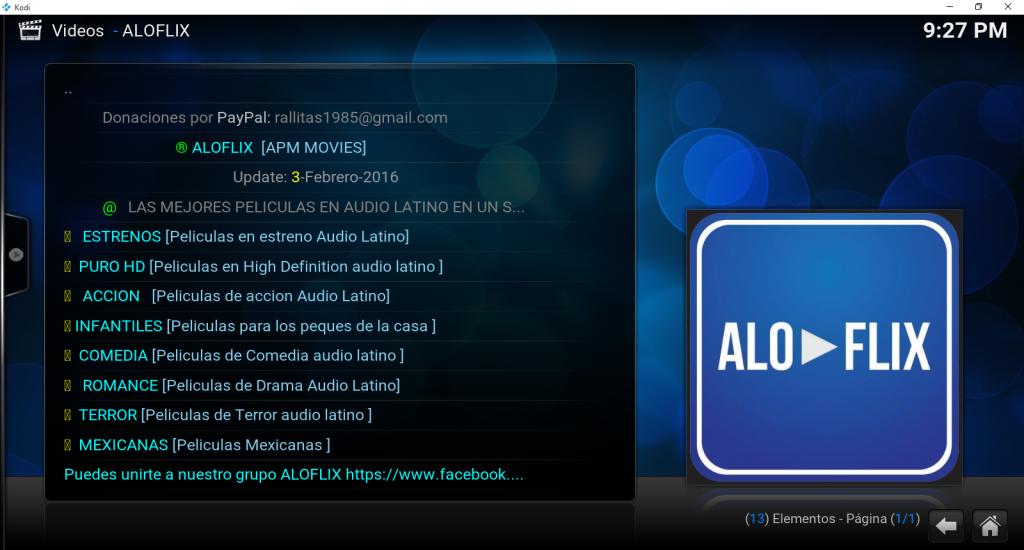 aloflix en kodi