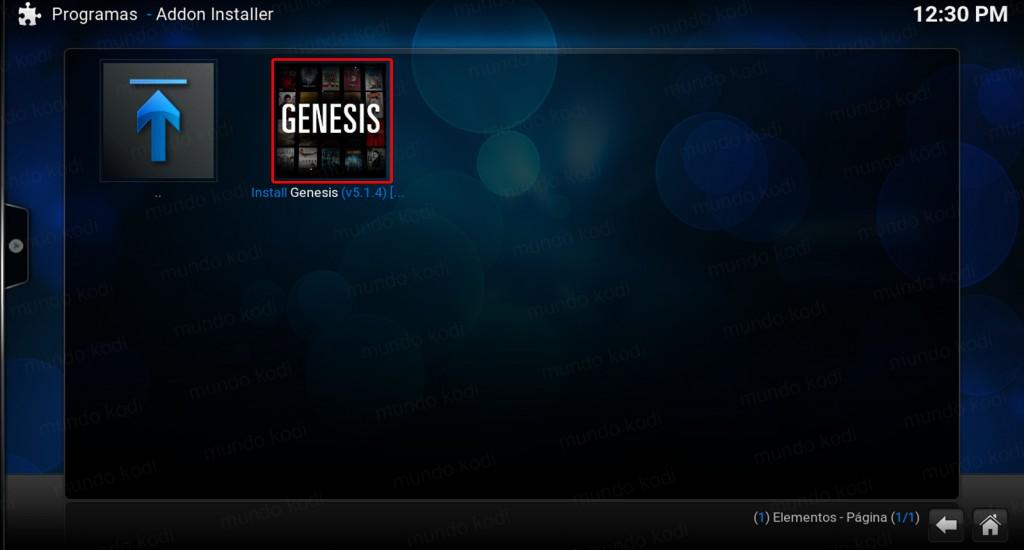 Genesis en Kodi. install genesis