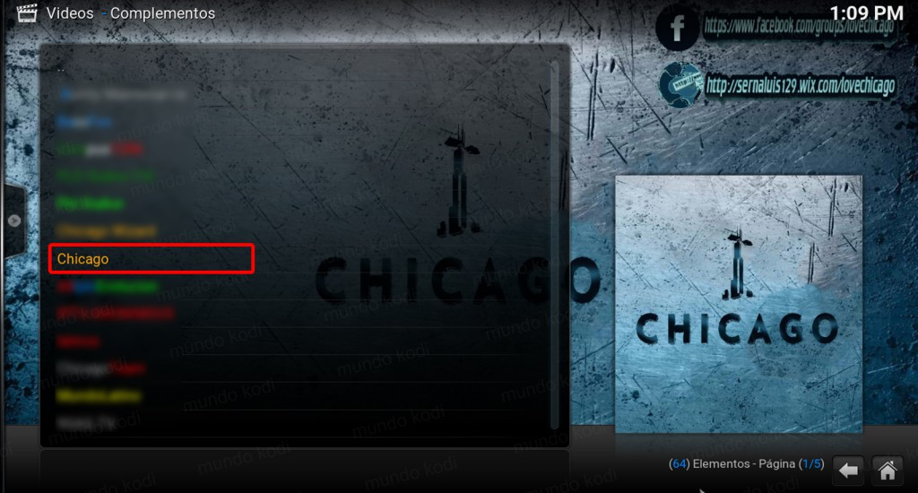 14 addon chicago en kodi wizard