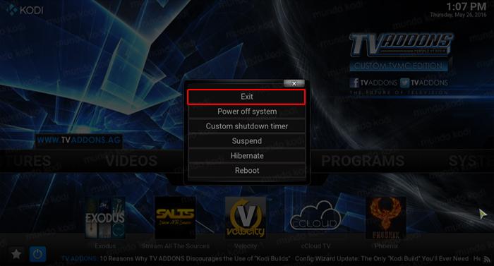 TVMC Una Version Preconfigurada de Kodi 12 exit