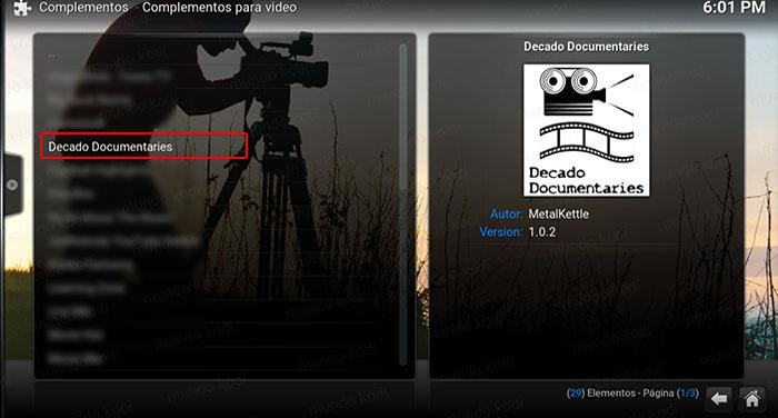 decado documentaries en kodi decado doc metal