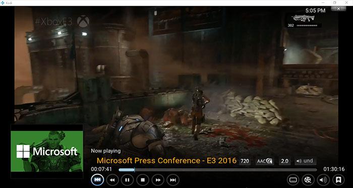 E3 2016 en Kodi prueba