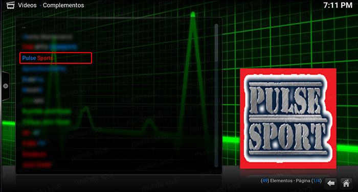 addon pulse sports en kodi puso sport