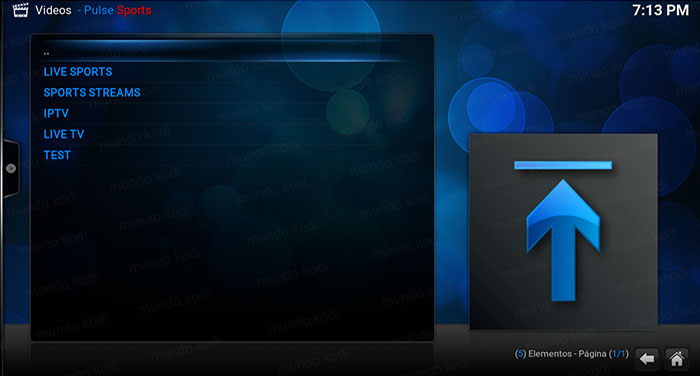 addon pulse sports en kodi lista