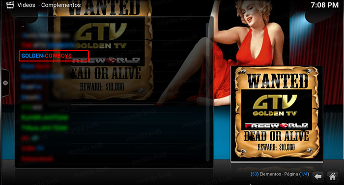 addon golden cowboys en kodi golden cowboys