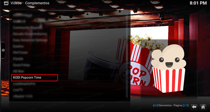 8 kodi popcorn time