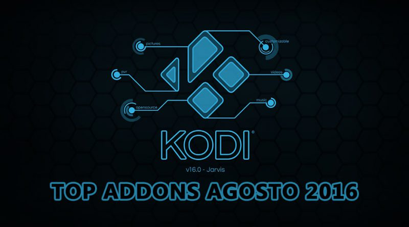 Top Addons Kodi Agosto 2016