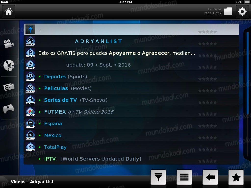 Instalar Kodi en iPhone, iPad y iPod 26-lista