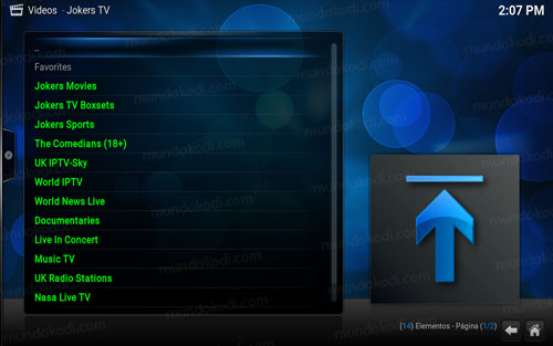 addon jokers tv en kodi 6-lista
