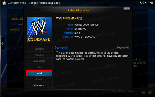 addon wwe on demand en Kodi 9-install