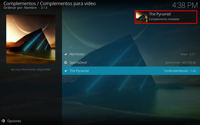 addon the pyramid en kodi