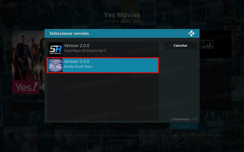 addon yes movies en kodi