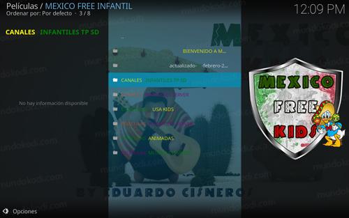 addon mexico free infantil en kodi