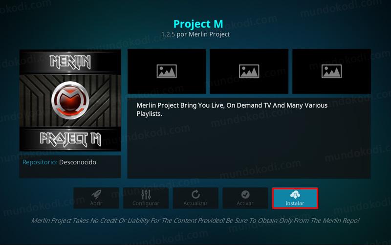 addon project m en kodi