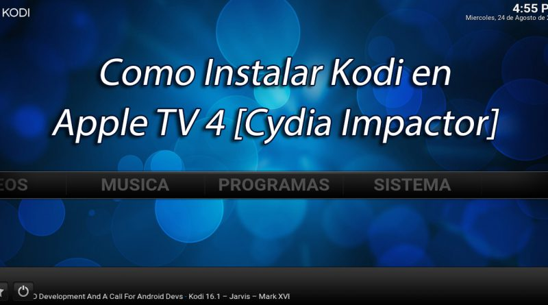 Kodi en Apple TV 4