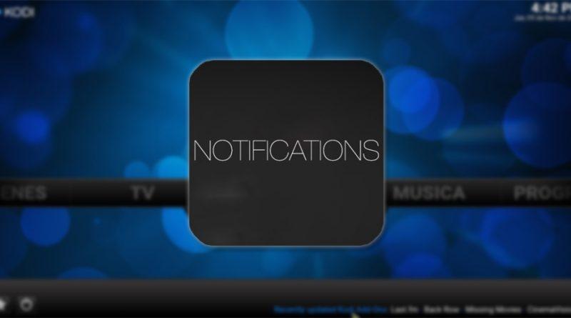eliminar notificaciones en kodi