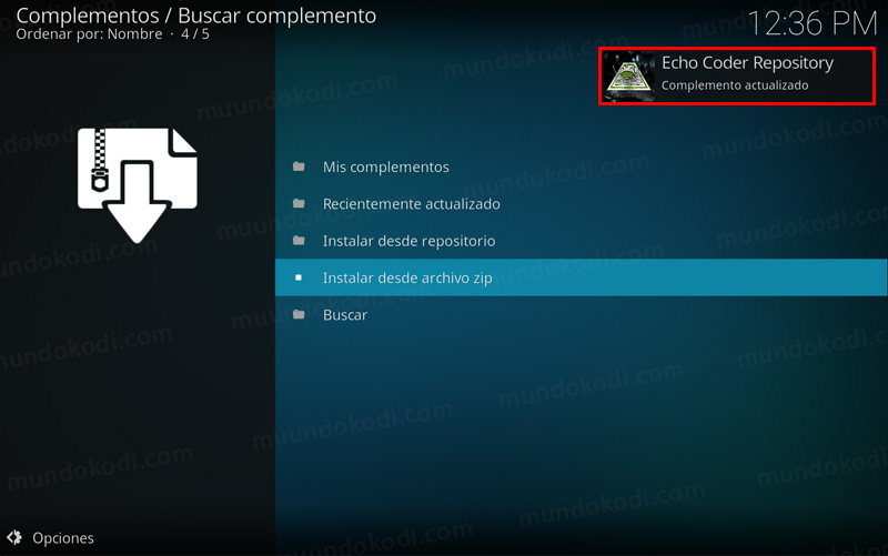 repositorio echo streams en kodi