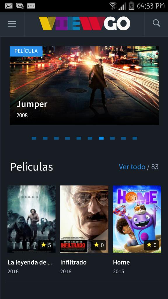 Películas y Series en Android