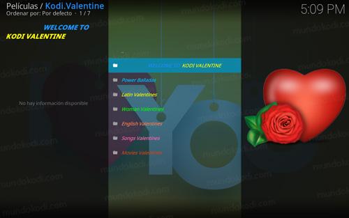 addon valentine en kodi