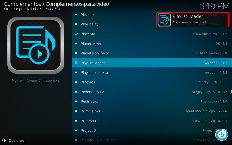 playlist loader