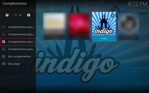 Addon Indigo en Kodi