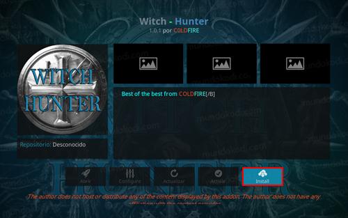addon witch hunter en kodi