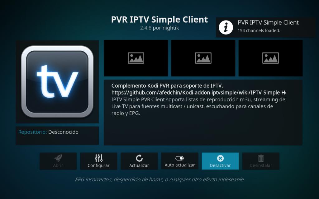 Listas Ultimate IPTV en Kodi