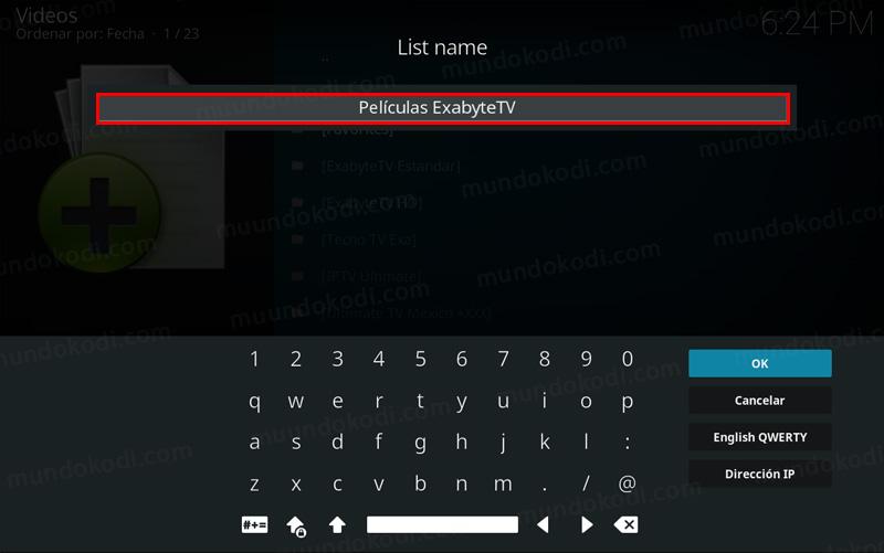 Lista de Películas exabyte tv