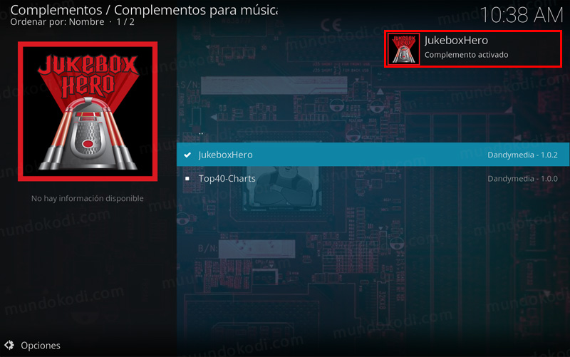 addon jukebox hero en kodi