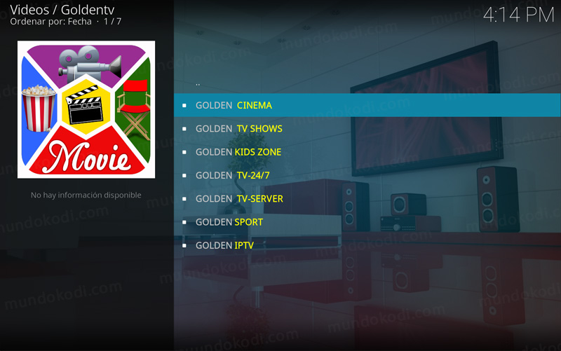 addon golden tv en kodi