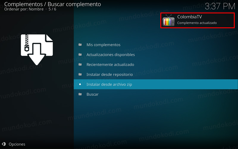 addon colombia tv en kodi