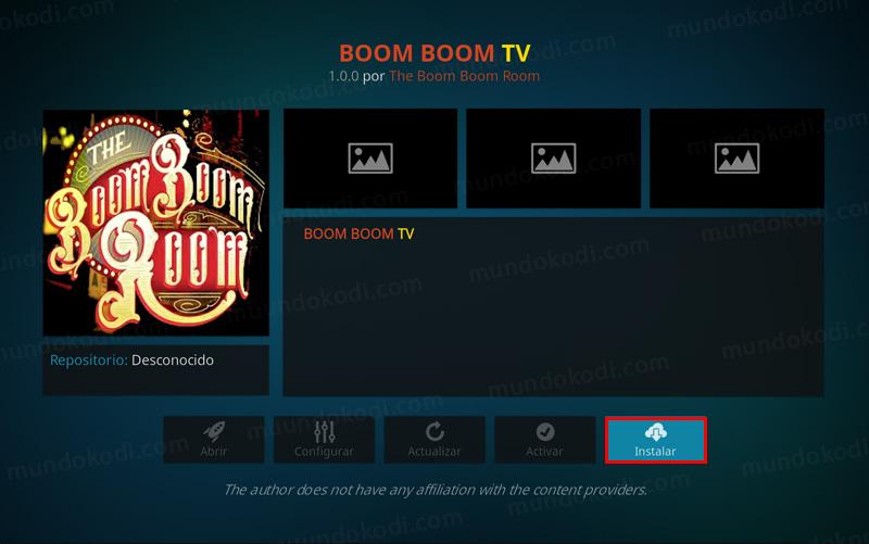 addon boom boom tv en kodi