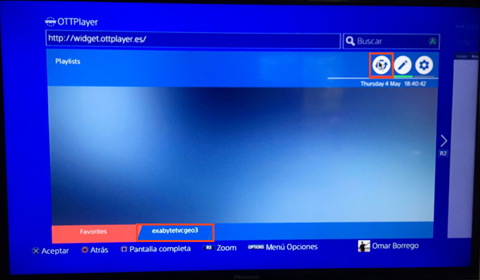 Ver TV, Películas y Series en PS4 con OTTPlayer