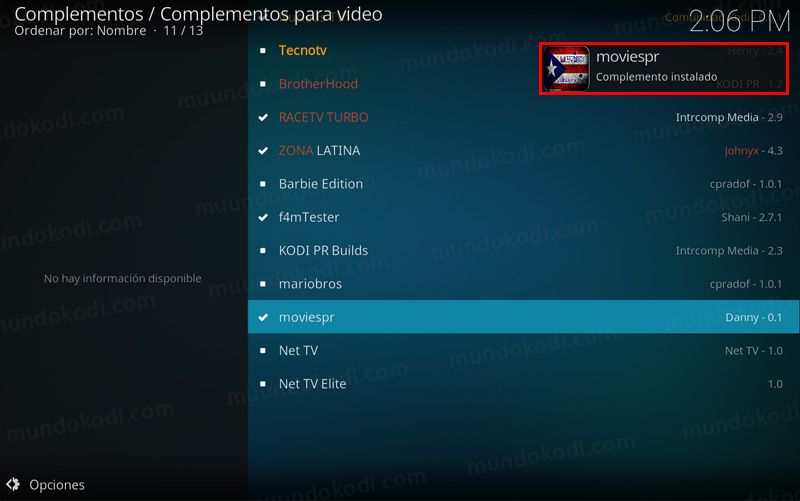 addon moviespr en kodi