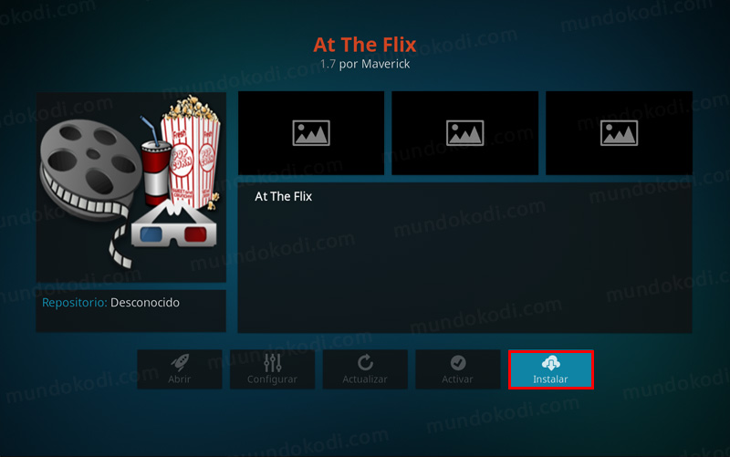 addon at the flix en kodi