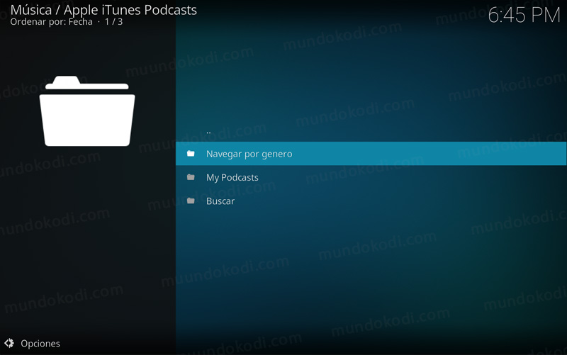 addon apple itunes podcast en kodi