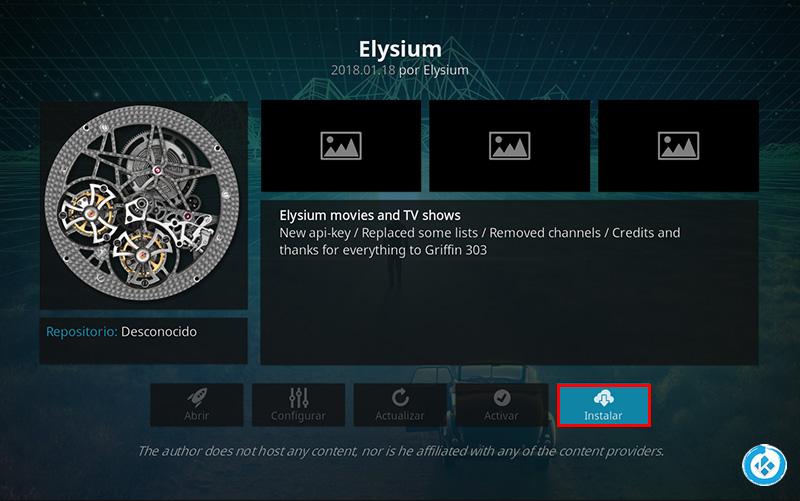 addon elysium en kodi