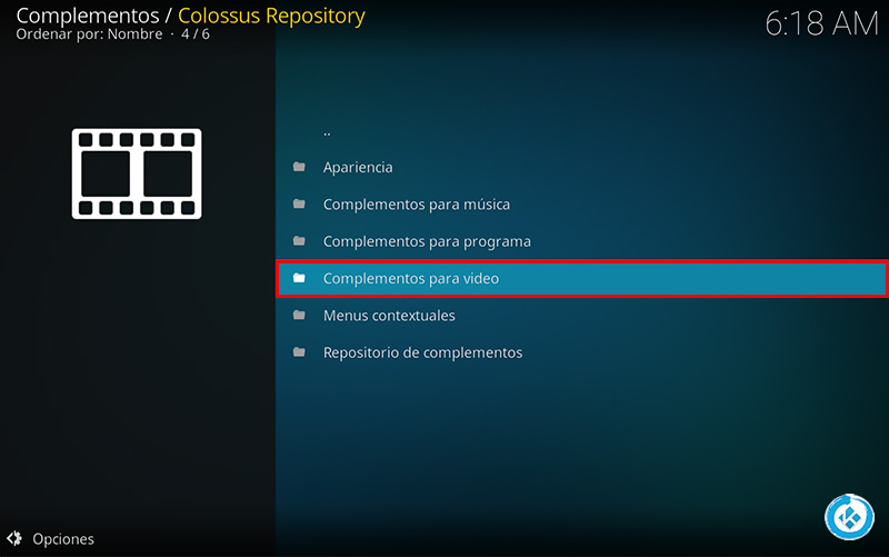 repositorio colossus en kodi
