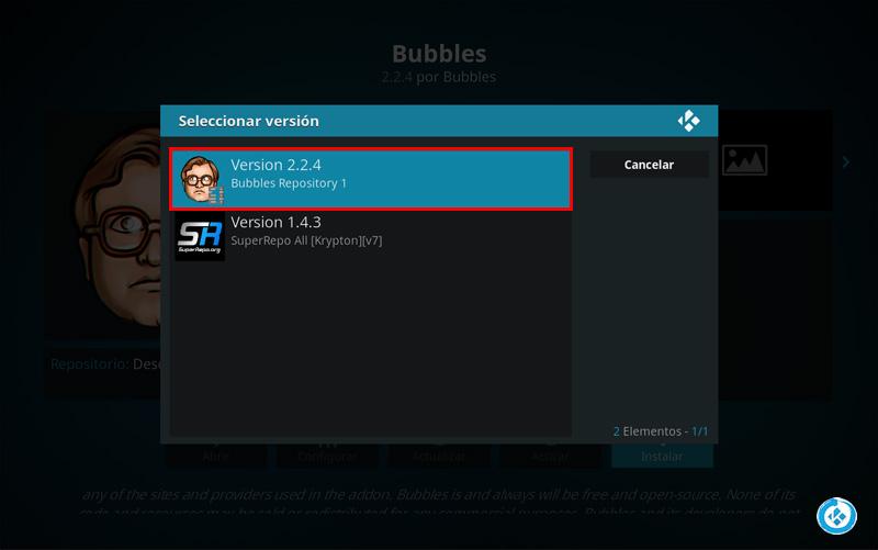 addon bubbles en kodi