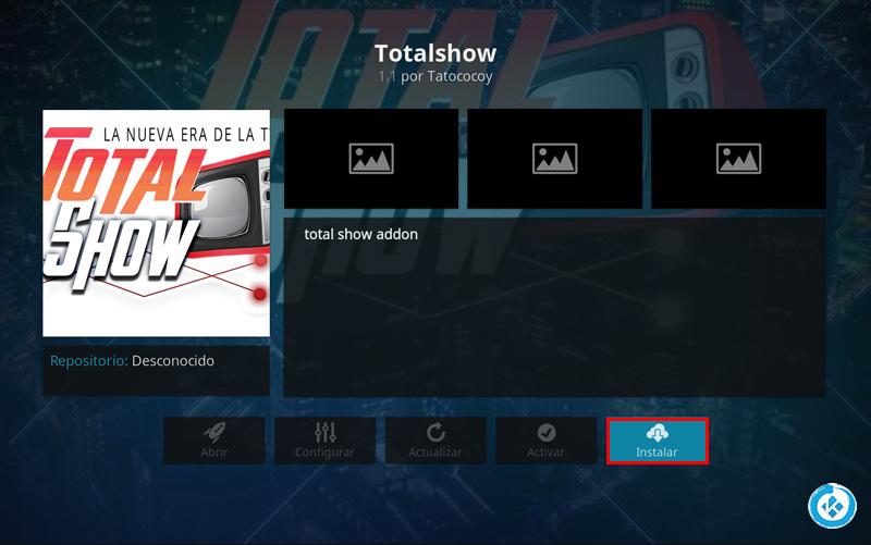 addon total show en kodi