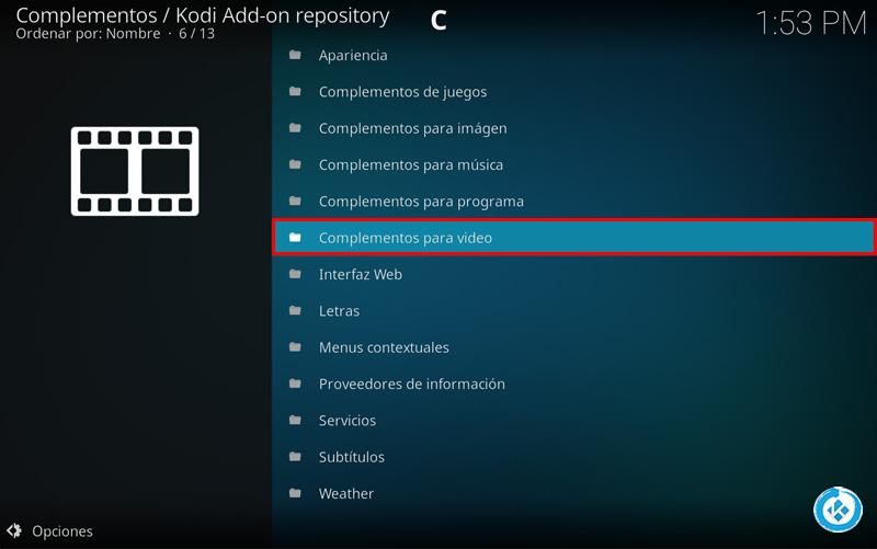 Addon HD Movie Trailers en Kodi