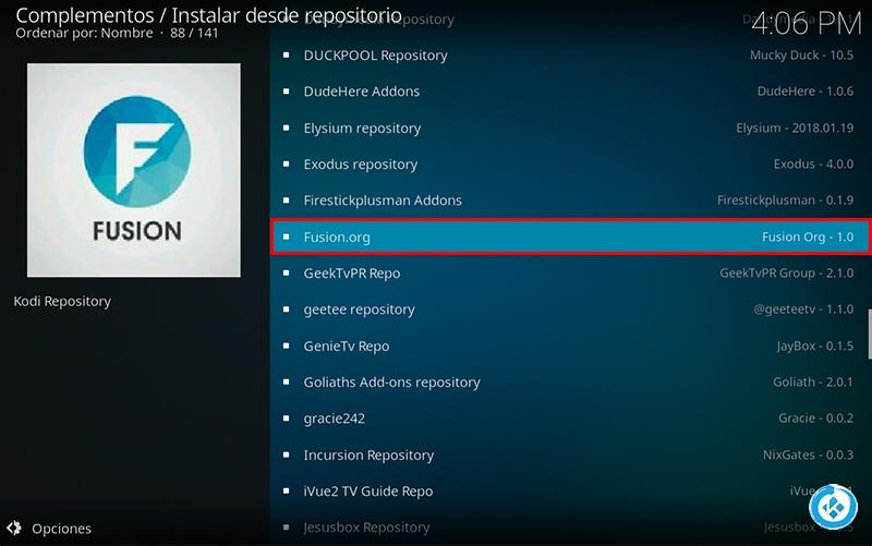 addon fusion.org en kodi