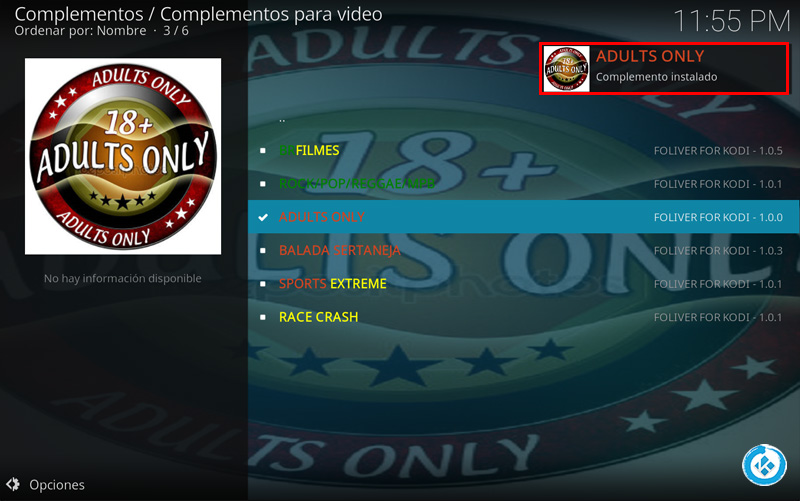 addon adults only en kodi